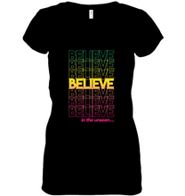 Load image into Gallery viewer, Believe: Women's Short Sleeve Jersey V-neck