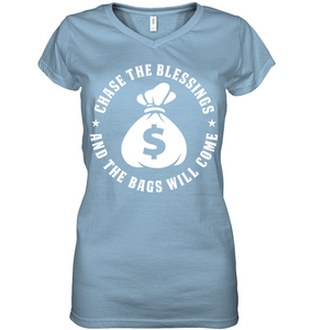 Chase The Blessings Women's V-Neck