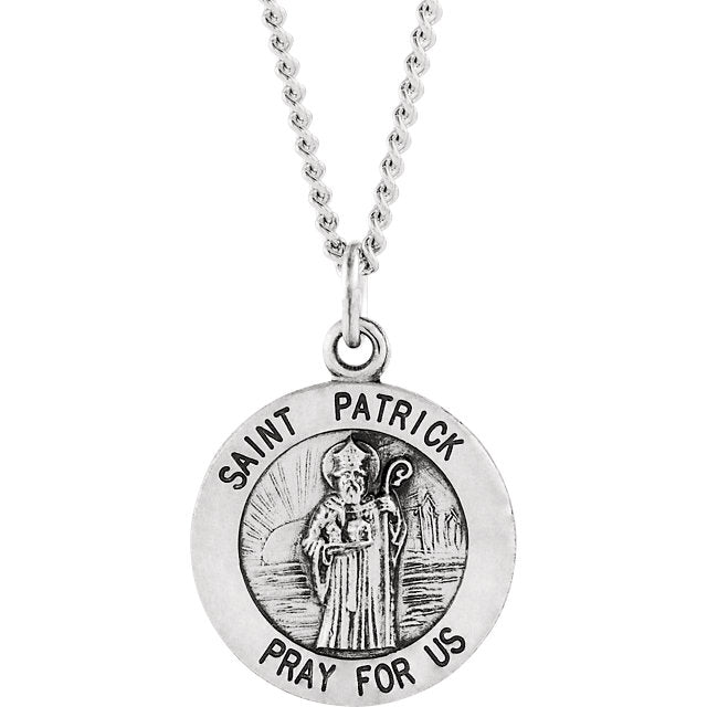 St Patrick Sterling Silver Necklace With Chain