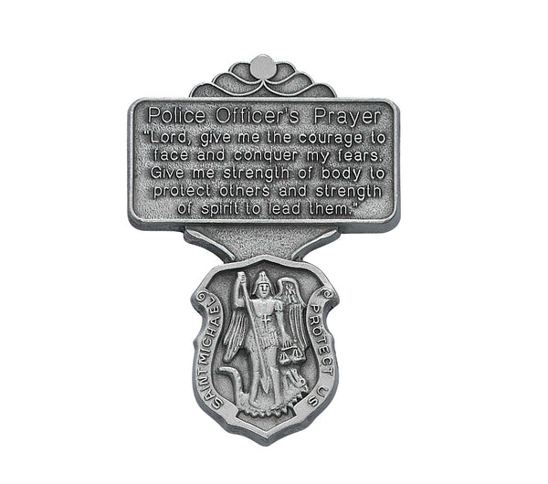 Saint Michael Police Officer Prayer Auto Visor Clip