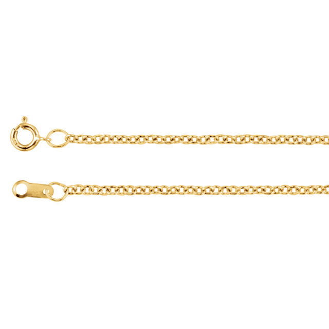 Solid Cable Chain Yellow Gold Filled