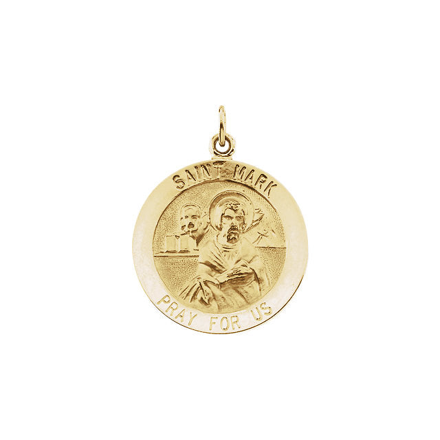 St Mark Round Yellow Gold Medal