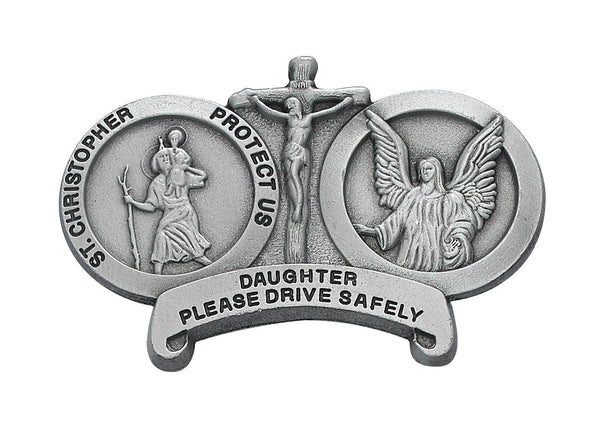 St Christopher Daughter Drive Safely Auto Visor Clip