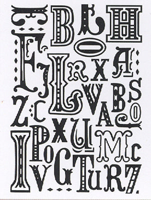 Embossing folder 5 X 7 - Typography