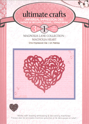 Couture Creations Impression Die - Magnolia Heart