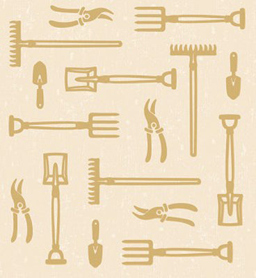 Lea'bilities Embossing Folder - Garden Tools