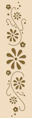 Lea'bilities Border Embossing Folder - Flower Swirls