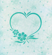 Lea'bilities Embossing Folder - Frame blossom heart