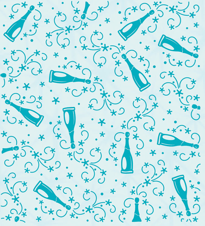 Embossing folder background Champagne bottles