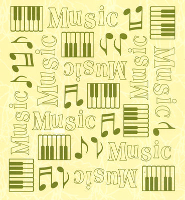 Embossing folder background Music 6