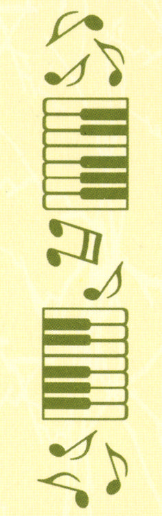"Border embossing folder Music 1"" x 6"""