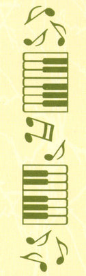 Border embossing folder Music 1