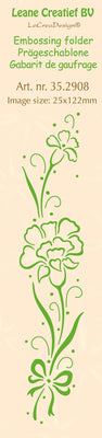 Leane Creatief BV-Border Embossing Folder Carnation