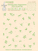 Leane Creatief BV-Embossing Folder Background Little Flowers