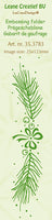 LeCrea Border embossing folder Pine branch