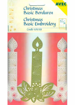 Christmas Basic Embroidery Stencil Candle