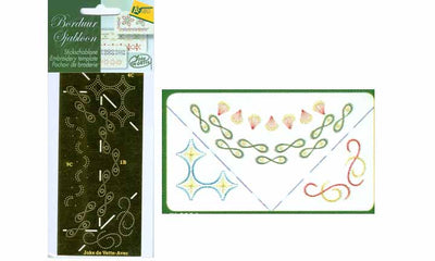 Corner Cutting Border Embroidery Stencil(JV0004)