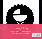 Fancy Folding Precut Cards - Round/Baby (FF4463)