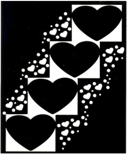 Mery's Cutting Stencil - Hearts