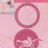 With Love Template - love bird/circle