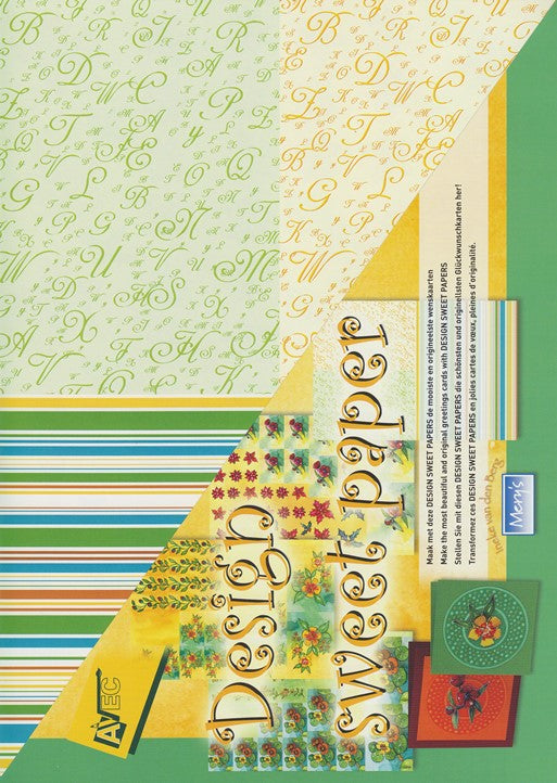 Sweet papers green (4 sheets)