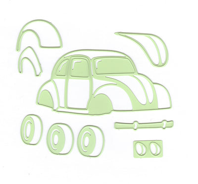 Lea'bilitie Car / Beetle- cut and embossing die