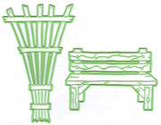 Leabilitie Garden bench & trellis  cut and embossing die