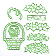 Leabilitie Flower basket cut and embossing die