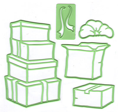 Leabilitie Boxes / presents  cut and embossing die