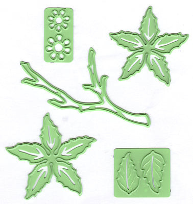 Leabilitie Poinsettia small & branch  cut and embossing die