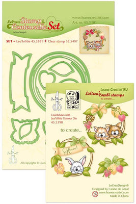 Leabilitie Die & Stamp Set - Wreath With Pets