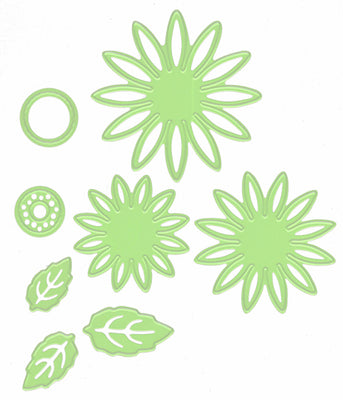 Cutting & Embossing Dies - Daisy Flower and Leaves