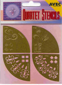 Quartet Stencils - Embossing /Stitching Decorative