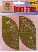 Quartet Stencils - Embossing /Stitching ornamental
