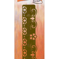 Embossing Border Stencil - Curves