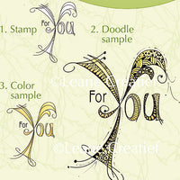 Lea'bilities Clear Stamp - Doodle Stamp - For You