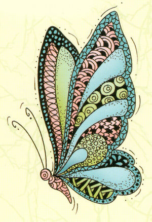 Lea'bilities Clear Stamp - Doodle Butterfly