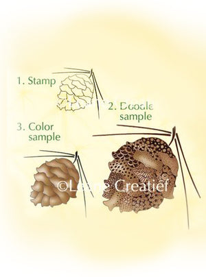 Lea'bilities Clear Stamp -  Pine cone
