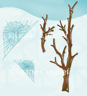 LeCreaDesign clear stamp Branches & Spider web.