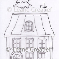 Leane Creatief - Doodle Clear Stamp House