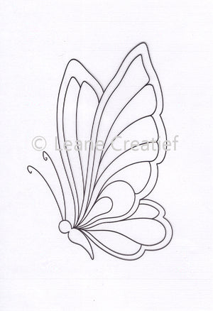 Leane Creatief - Doodle Clear Stamp Butterfly