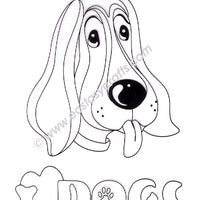 Leane Creatief BV-Doodle Clear Stamp Dog