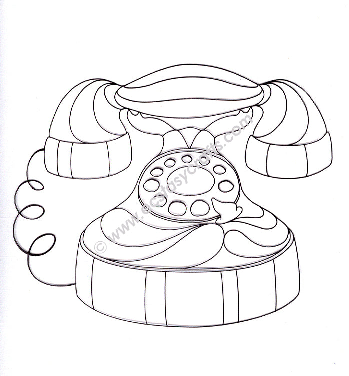 Leane Creatief BV-Doodle Clear Stamp Telephone