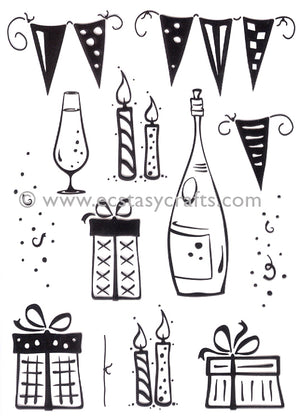 LeCrea Clear Stamp - Party