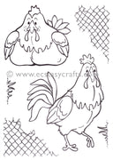 LeCrea Clear Stamp - Rooster & Hen