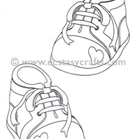 LeCrea Doodle Clear Stamp - Baby Shoes