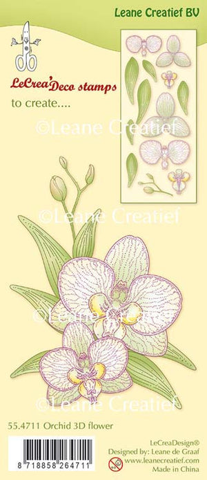 Clear Stamp Orchid 3D Flower