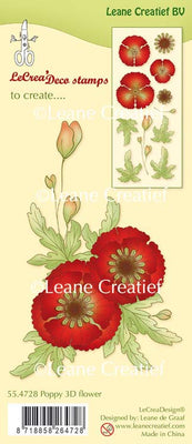 Clear Stamp Poppy 3D Flower