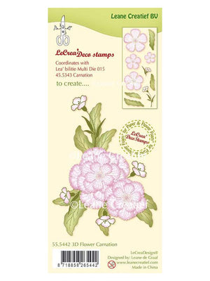 Lecreadesign Clear Stamp 3D Flower Carnation