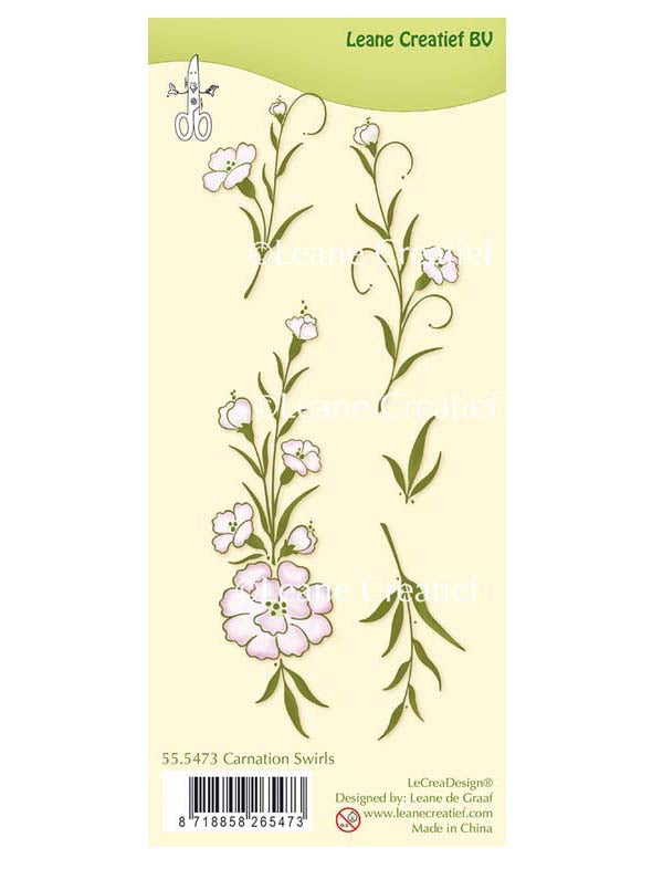 Lecreadesign Clear Stamp Carnation Swirls